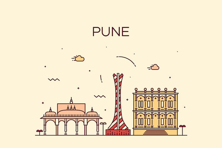 Cover Image For Pune skyline, India