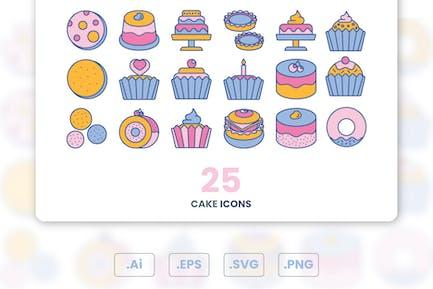 Conjunto de Íconos de tortas