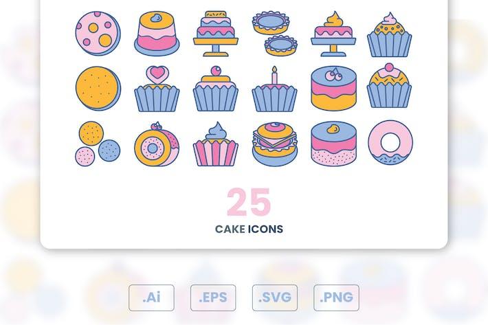 Thumbnail for Conjunto de Íconos de tortas