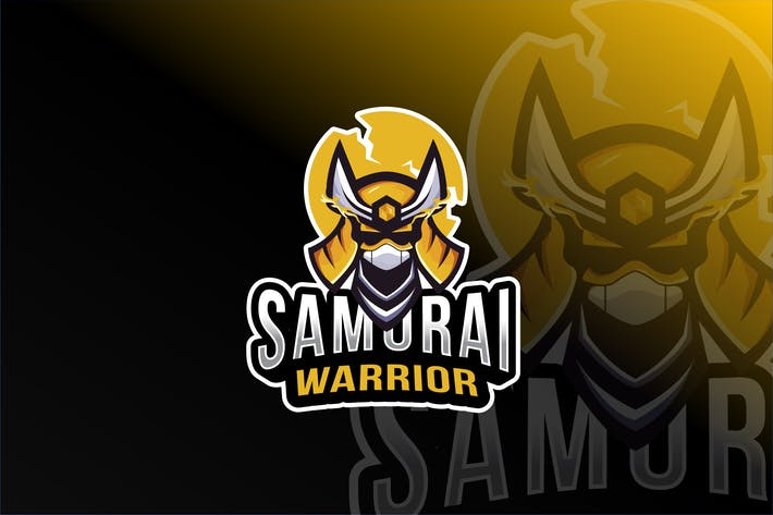 Cover Image For Samurai Warrior Esport Logo Template