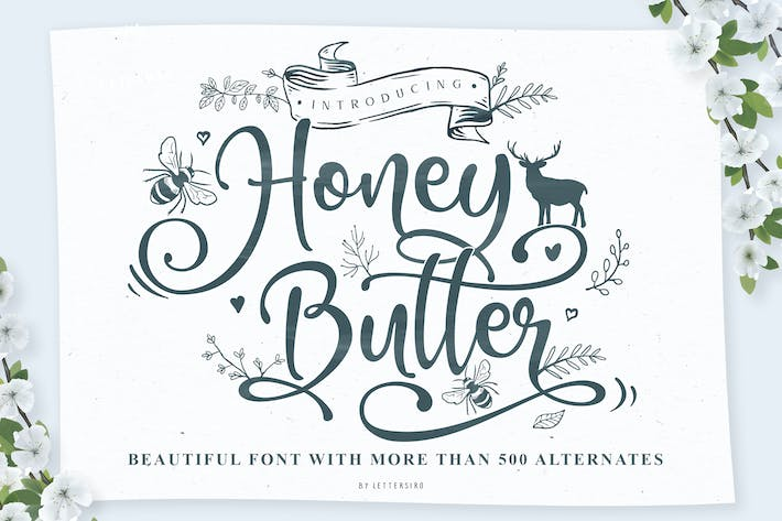 Thumbnail for Honey Butter Beautiful Font