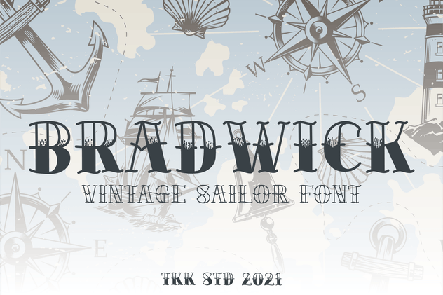 BRADWICK - Sailor Tattoo Font