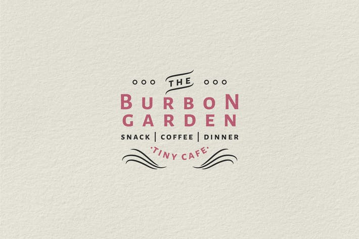 Logo vintage insignia — Burbon Garden Tiny Cafe