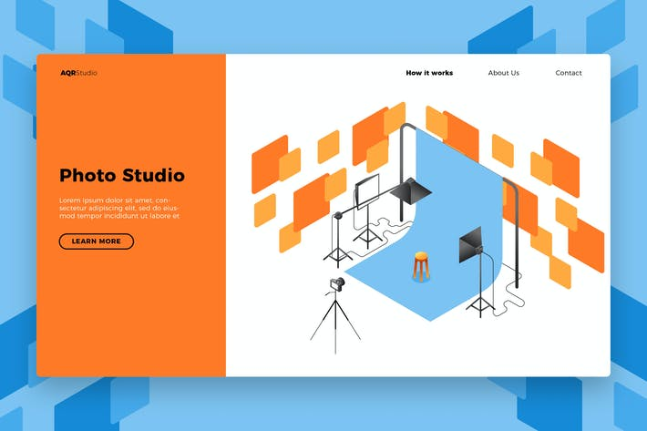 Thumbnail for Photo Studio - Banner & Landing Page
