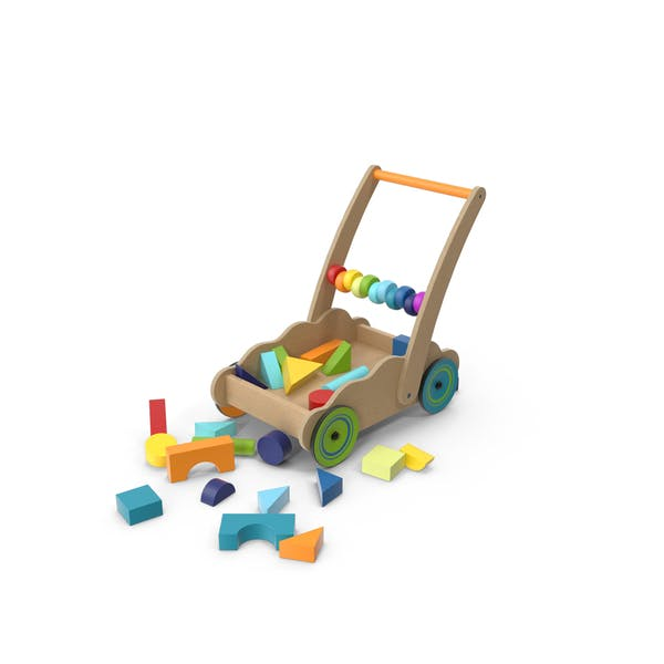 Thumbnail for Wooden Cart of Building Blocks