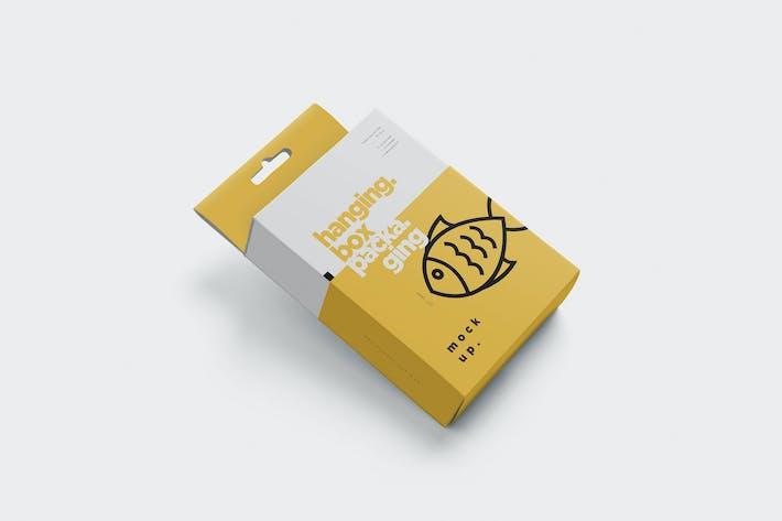 Thumbnail for Hanging Box Packaging Mockups