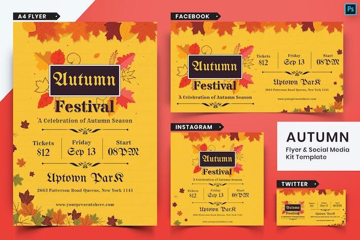Thumbnail for Autumn Festival Flyer & Social Media Pack-08