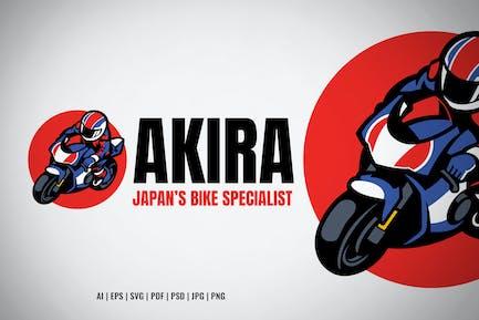 Japan Racing Motorcycle Garage Logo