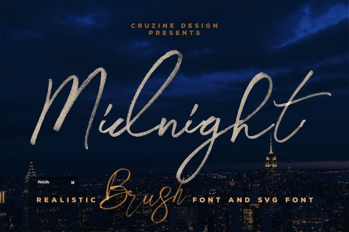 Thumbnail for Midnight Brush & SVG Font