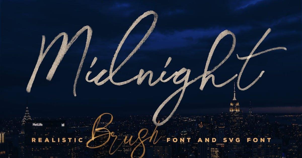 Download Midnight Brush & SVG Font by cruzine
