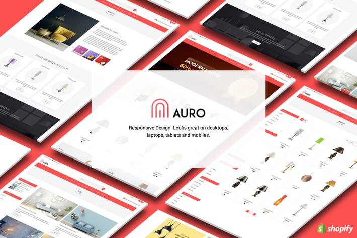 Thumbnail for Auro | Hanging, Decorarive Lights Shopify Theme