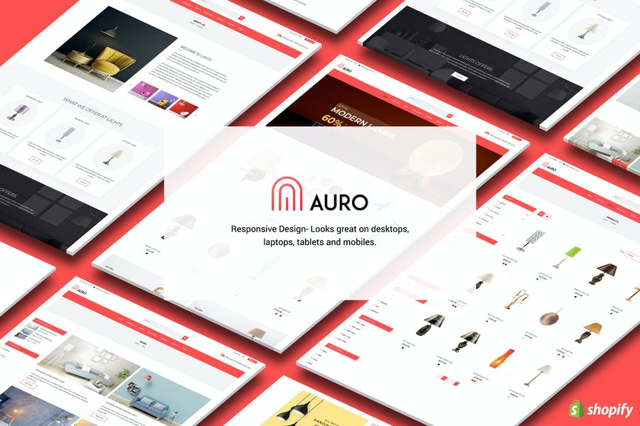 Auro | Hanging, Decorarive Lights Shopify Theme