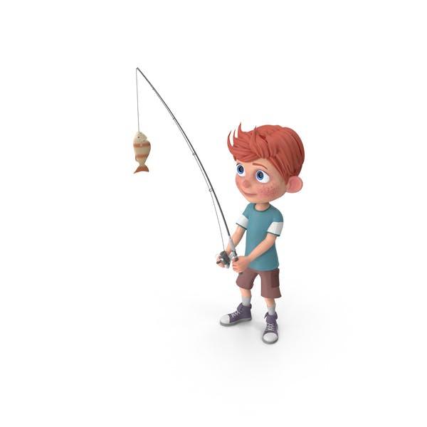 Thumbnail for Cartoon Boy Charlie Fishing