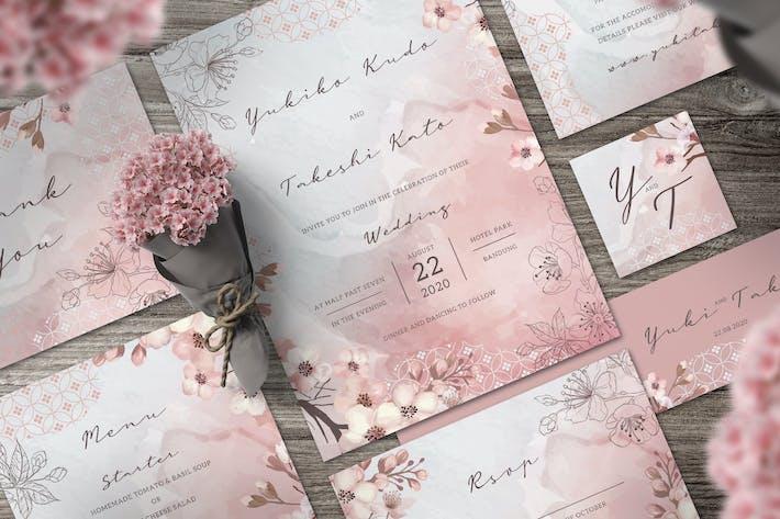 Thumbnail for Sakura Wedding Invitation Set