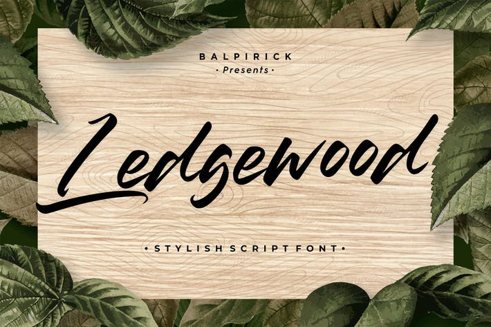 Thumbnail for Ledgewood Lettering Font YH