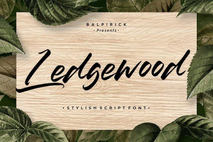 Thumbnail for Ledgewood YH - Fuente de letras de pincel