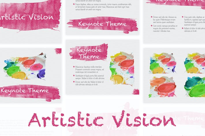 Thumbnail for Artistic Visions Keynote template