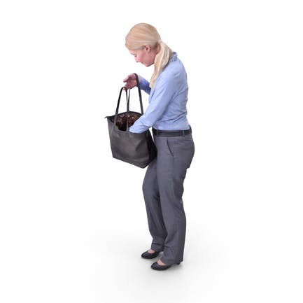 Shopping Woman Posed