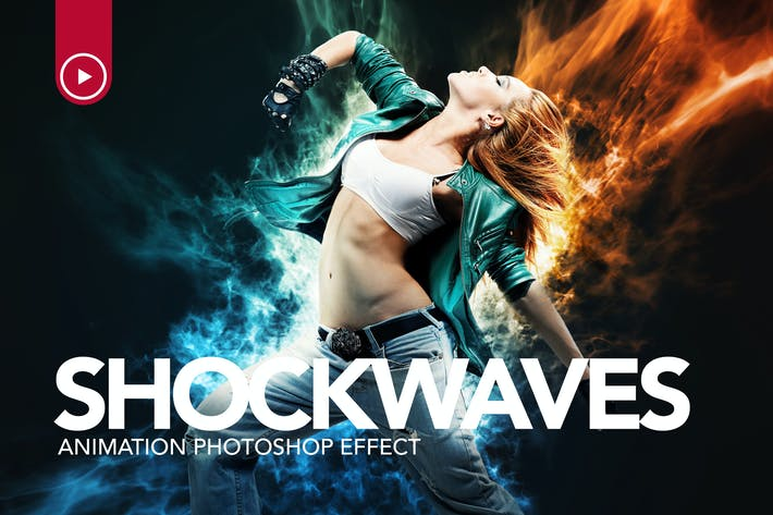 Thumbnail for Shockwaves Animation Photoshop Action