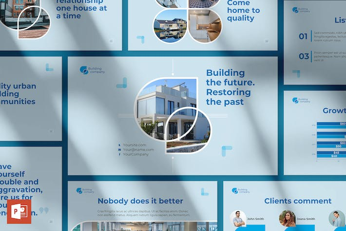 Thumbnail for Building Company PowerPoint PräsentationsVorlage