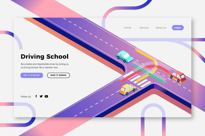 Cover Image For Driving School - Banner Page