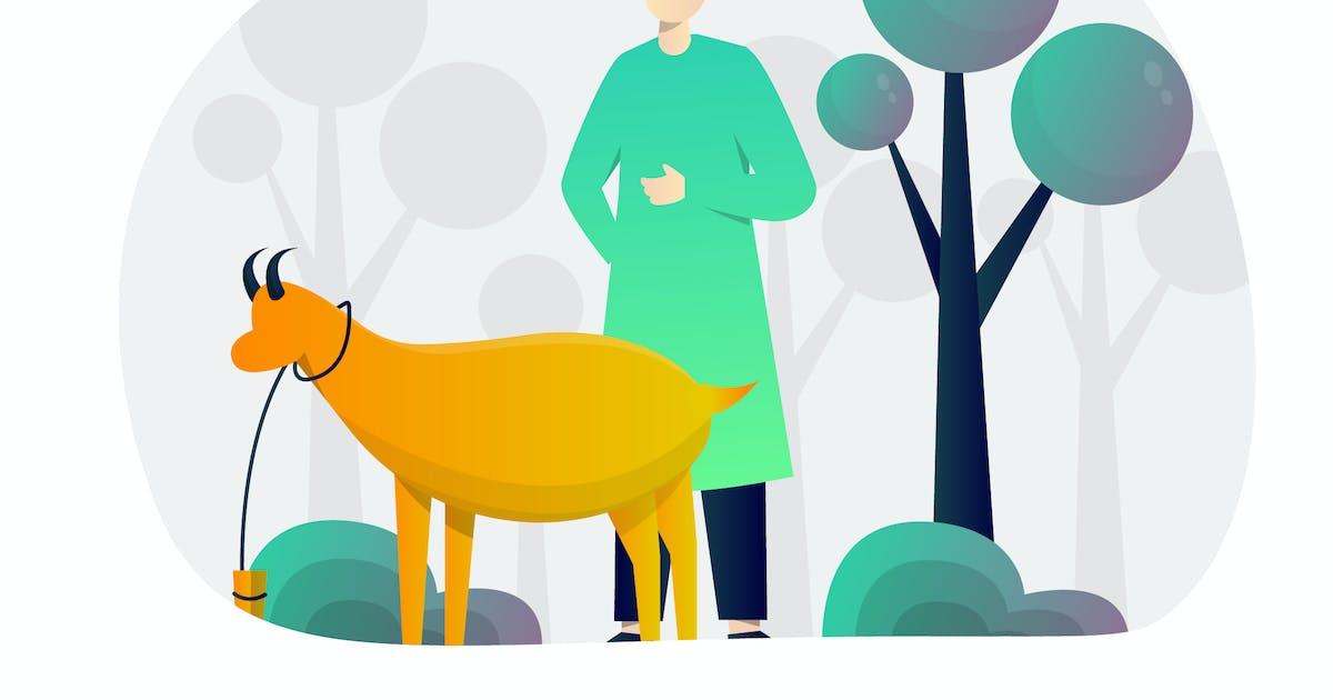 Download Eid Qurban Flat Illustration by StringLabs