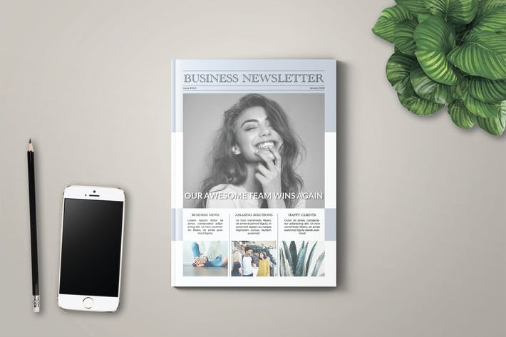 Cover Image For Business Newsletter