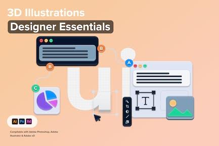 3D-Illustrationen Designer-Essentials