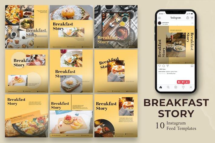 Breakfast - Food  Instagram Post