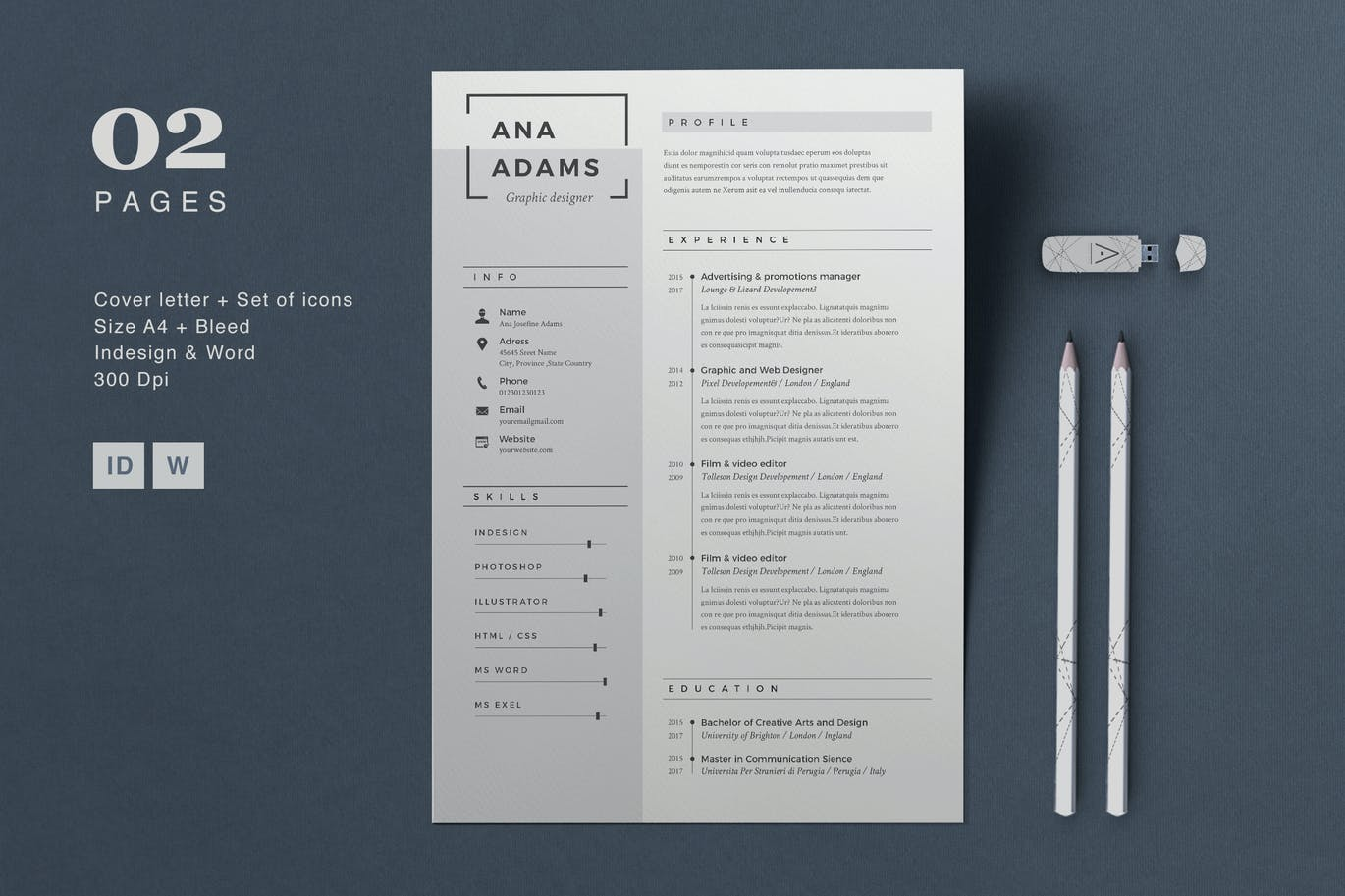 resume anna with envato elements subscription - Resume Graphic Design