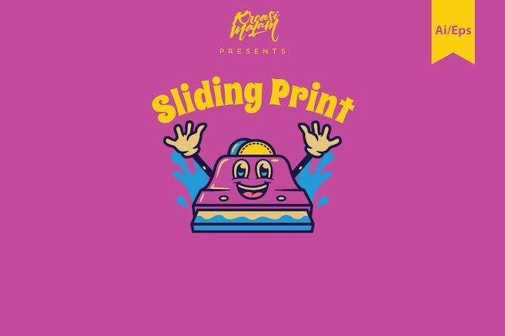 Sliding Print Logo Template