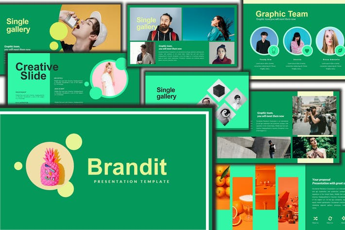 Thumbnail for Brandit - Powerpoint Template