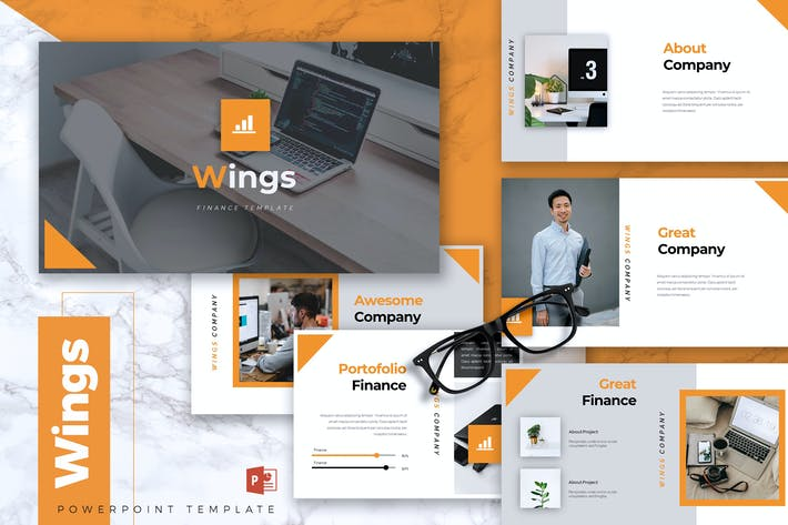 Thumbnail for WINGS - Финансы Powerpoint Шаблон