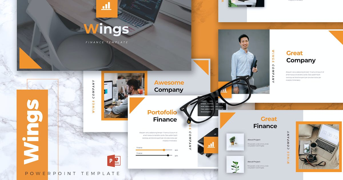 Wings Finance Powerpoint Template By Rahardicreative On Envato Elements