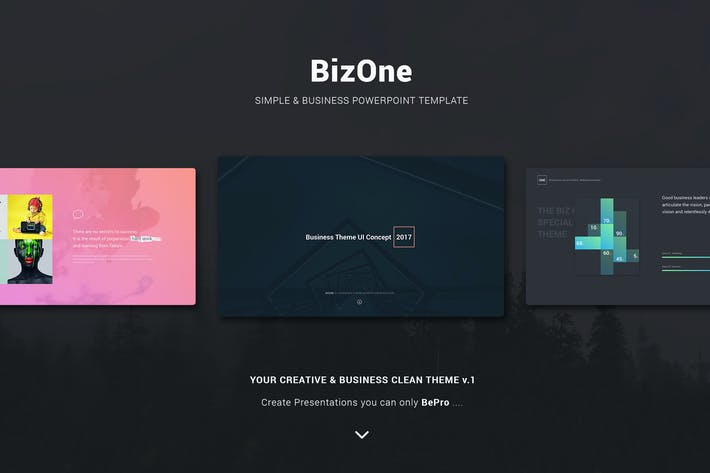 Cover Image For BizOne Creative Theme (Powerpoint)