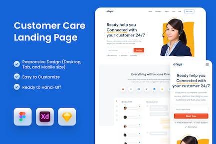 Customer Care Landing Page
