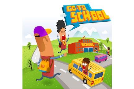 Aller à l'école après les vacances