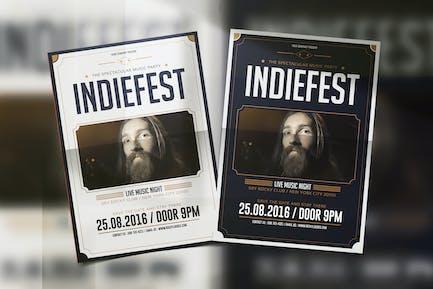 Indie Fest Music Flyer