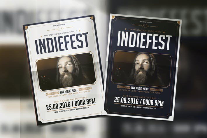 Cover Image For Indie Fest Music Flyer