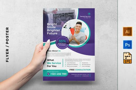 Dental service expert flyer
