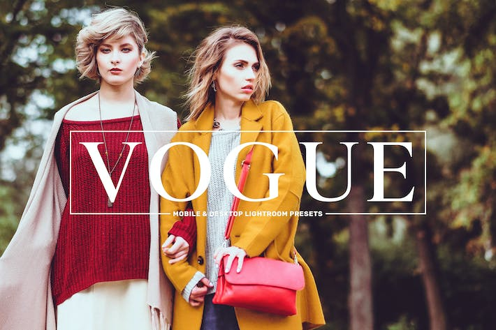 Thumbnail for Vogue Mobile & Desktop Lightroom Presets Pack