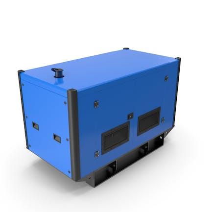 Stromerzeuger blau