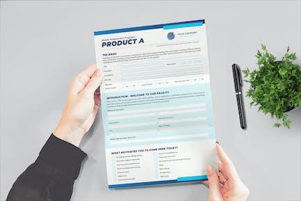 Formular zur Produktbewertung