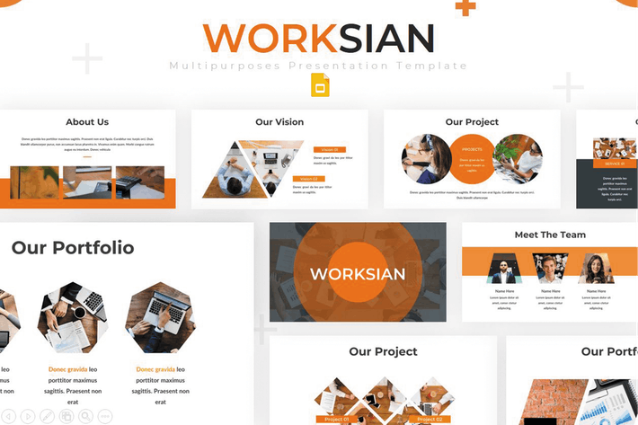 Thumbnail for Worksian - Google Slides Template