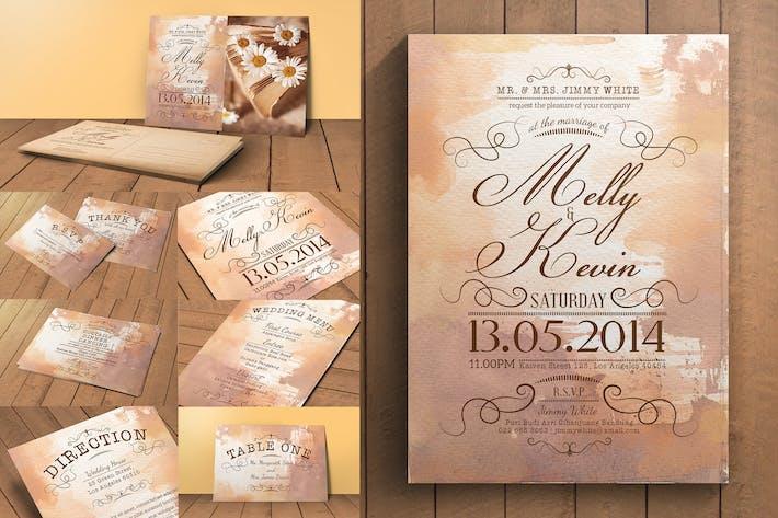 Thumbnail for Pack d'invitation de mariage vintage