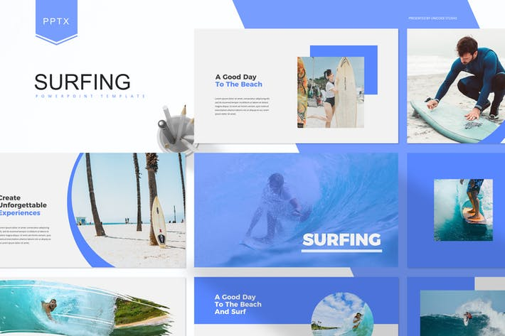 Thumbnail for Серфинг - Шаблон Powerpoint