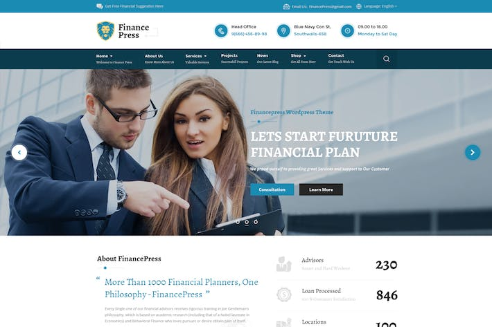 Thumbnail for Finance Press - Consulting Business, Finance PSD