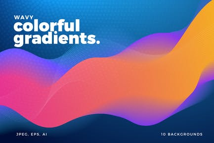 Colorful Wavy Gradient Backgrounds