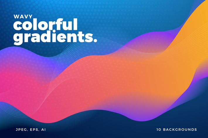 Thumbnail for Colorful Wavy Gradient Backgrounds