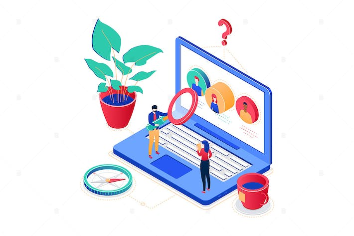 Thumbnail for HR management - colorful isometric illustration